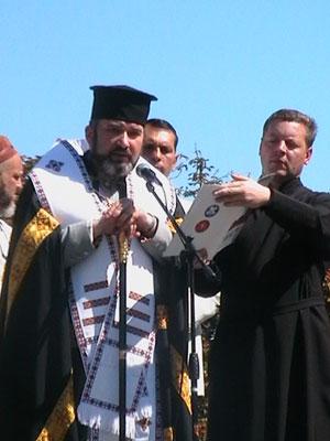 Выступление владыки Василия в День независимости Украины в Одессе